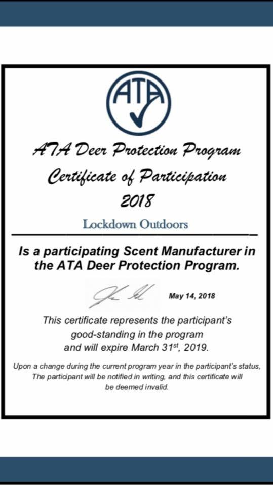 ata certificate